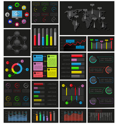 Ui elements of infographics collection vector