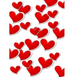 Valentines day bright background vector
