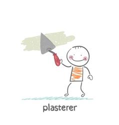 Plasterer works vector