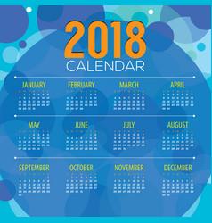 2018 abstract graphic printable calendar vector
