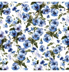 Blue flowers 11 vector