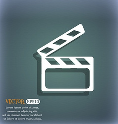 Cinema clapper sign icon video camera symbol on vector