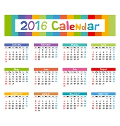 2016 calendar - kids hand made vector
