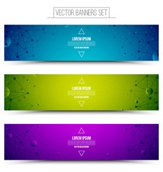 Technology colorful web banners vector