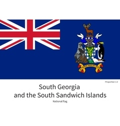National flag of south georgia and sandwich vector