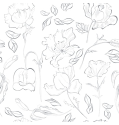 Seamless wallpaper with flowers vector