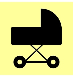 Pram sign flat style icon vector