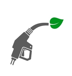 Bio fuel concept icon gas station gun with green vector