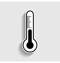 Thermometer sign sticker style icon vector