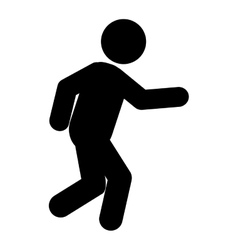Running person pictogram icon vector
