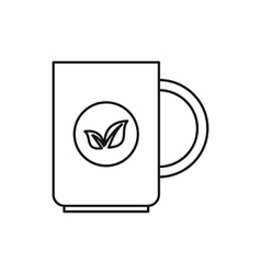 Cup of tea icon outline style vector