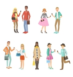 Hipsters and modern fashion trends set vector
