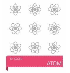 Atom icon set vector
