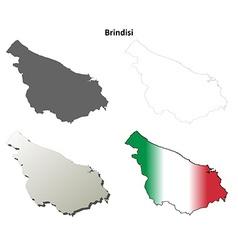 Brindisi blank detailed outline map set vector