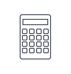 Calculator icon finances economy concept vector