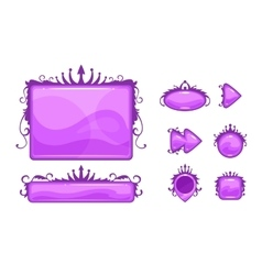 Cartoon abstract game assets set vector