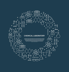 chemical lab poster vector image vector image
