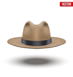 Classic men hat vector
