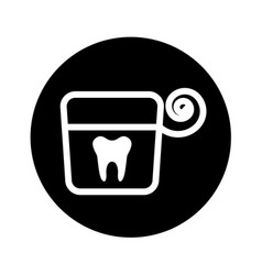 Dental floss isolated icon vector