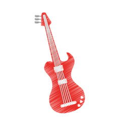 electric guitar isolated icon vector image vector image