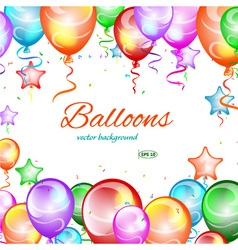 Festive background balloons vector image vector image