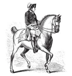 Frederick ii of prussia on horseback vintage vector