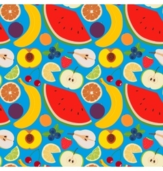 Fruits and berries seamless pattern 2 vector image vector image