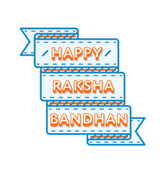 Happy raksha bandhan day greeting emblem vector