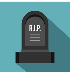 Headstone icon flat style vector image vector image