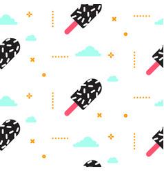 Ice cream seamless pattern 90s style vector