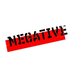 Negative rubber stamp vector image