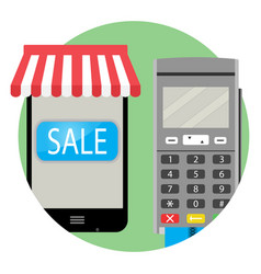 Online payment and purchase icon app vector