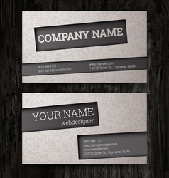 Premium business card set eps10 vector