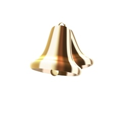 Realistic Golden Bells Isolated on White vector image