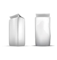 Set of blank white foil food packaging llustration vector