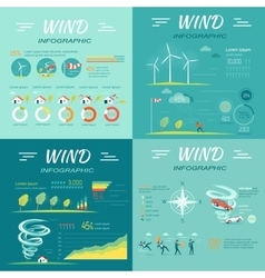 Set of wind infographics vector
