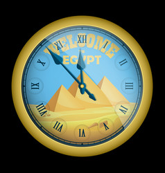 Souvenir welcome to egypt realistic clock vector