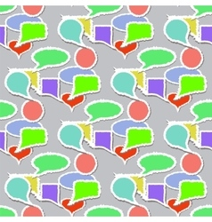 Speech Bubbles Pattern Stickers Background vector image vector image