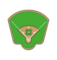 Stadium baseball field green isolated vector