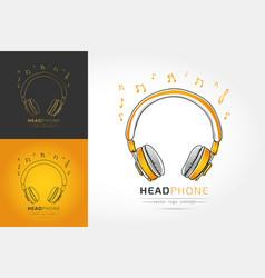 Stylized image of headphone vector
