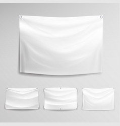 White banner set horizontal hanging vector