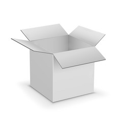 White cardboard boxes template vector