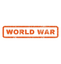 World war rubber stamp vector