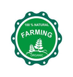 Farming logo natural vector