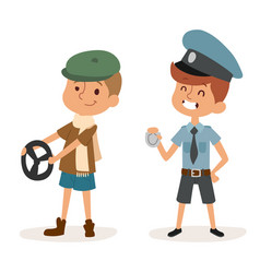 cartoon profession kids children set vector image