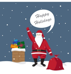 santa claus gives gifts vector image
