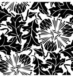 seamless pattern of dandelion vector image