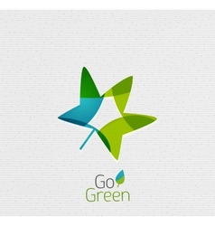 Green Leaf Nature Concept vector image