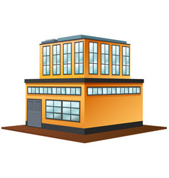 3d design for building in yellow color vector