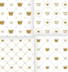 Simple seamless pattern with crown vector